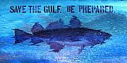 Help Digital Art Posters - Save the Gulf America Poster by Paul Gaj