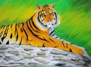 National Drawings Framed Prints - Save The Tiger Framed Print by Tanmay Singh