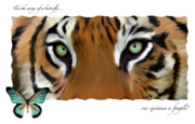 Endangered Cat Posters - Save The Tigers Poster by Frances Guzzetta