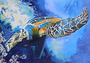 Save The Sea Turtle Paintings - Save the Turtles by Warren Thompson