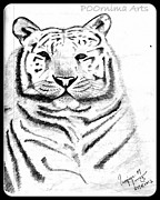 Save Tigers Print by Poornima M