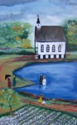 Baptism Painting Originals - Saved by Lucretia Glorioso