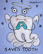 Tooth Mixed Media Prints - Saved Tooth Print by Anthony Falbo