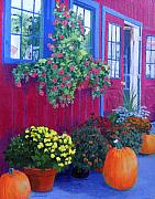 Pumpkins Paintings - Savickis Market by Lynne Reichhart