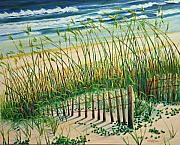 Sand Fences Originals - Saving the Dunes by Cathy Harville