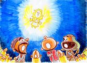 Saviour Has Come To Birth Print by Masahiro Tajima