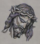 Saviour Drawings - Saviour No 2 by Edward Ruth