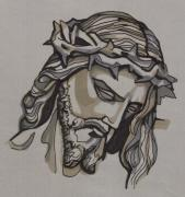 Saviour Drawings - Saviour No 3 by Edward Ruth