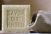 Olive Oil Photo Prints - Savon de Marseille Print by Frank Tschakert