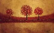 Red Tree Paintings - Savored Silence by Darlene Keeffe