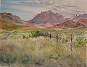 Texas Pastels Originals - Saw Tooth Mountain by Karen Boudreaux
