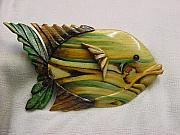 Featured Reliefs - Sawdust-Florida Series wooden fish-sold by Lisa Ruggiero