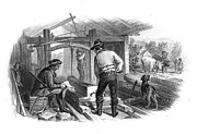 Cattle Dog Prints - SAWMILL, c1870 Print by Granger