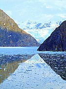 Sawyer Prints - Sawyer Glacier 5 Print by Randall Weidner
