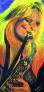 Sax Painting Originals - Sax Diva by Michael Lee
