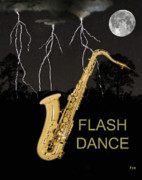 Rhythm And Blues Art - Sax Flash Dance by Eric Kempson
