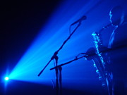 Live Music Photos - Sax in Blue by Anthony Citro