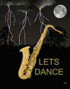 Rhythm And Blues Art - Sax Lets Dance by Eric Kempson