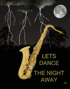 Rhythm And Blues Art - Sax Lets Dance The Night Away by Eric Kempson
