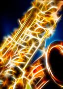 Saxophone 2 Print by Hakon Soreide