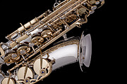 Miller Photos - Saxophone Isolated Black by M K  Miller