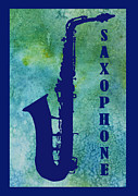 Band Digital Art Prints - Saxophone Print by Jenny Armitage