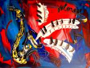 Saxophone Mixed Media - Saxophone by Mark Kazav