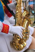 Woodwind Photos - Saxophone Players by Yali Shi