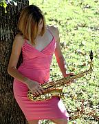 Sax Girl Photos - Saxy Girl by Lynn Reid