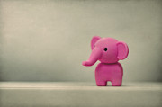 Little Elephant Framed Prints - Say Hello To My Little Friend Framed Print by Evelina Kremsdorf