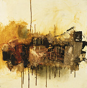 Rust Mixed Media Metal Prints - Say When Metal Print by Michel  Keck