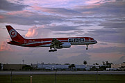 After The Rain Photo Prints - SBAs aircraft landing. Miami. FL. USA Print by Juan Carlos Ferro Duque
