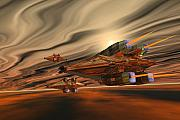 Starcruiser Metal Prints - Scadlands Metal Print by Corey Ford