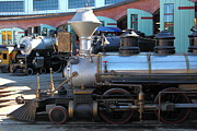 Amusement Parks Posters - Scale Steam Locomotives - Traintown Sonoma California - 5D19200 Poster by Wingsdomain Art and Photography