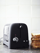 Toaster Prints - Scandinavia, Sweden, Bromma, Bread And Toaster, Close-up Print by Johner Images