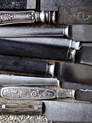 Old Objects Photos - Scandinavia, Sweden, Various Knives, Close-up by Johner Images