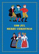 Scandinavian Christmas Card Print by Leif Sodergren