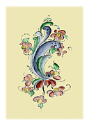 Scandinavian Flower II Print by Judy Dodds