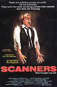 Spontaneous Framed Prints - Scanners, Michael Ironside, 1981 Framed Print by Everett