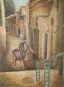 Barbara Nesin Art - Scapegoat at Ben Yehuda Street by Barbara Nesin