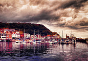 John Adams Digital Art Framed Prints - Scarborough harbour Framed Print by John Adams