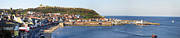 Sea Vessels Framed Prints - Scarborough panorama Framed Print by Jane Rix