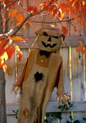 Jack-o-lanterns Photos - Scarecrow 3 by Steve Ohlsen