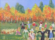 Scarecrow Contest Print by Robert P Hedden