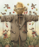 Scarecrow Posters - Scarecrow  Poster by Kestutis Kasparavicius