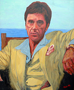 Al Pacino Paintings - Scarface - Tony Montana by Tom Roderick