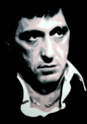 Cult Film Painting Framed Prints - Scarface Framed Print by Luis Ludzska