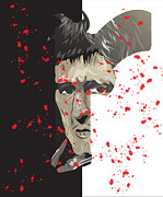Montana Digital Art - Scarface by Mike  Haslam