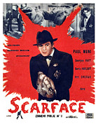 1930s Movies Posters - Scarface, Paul Muni, 1932 Poster by Everett