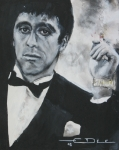 Gangster Metal Prints - Scarface2 Metal Print by Eric Dee